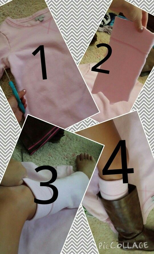 Cute way to make high socks for your boots at no cost!!!