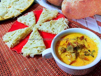 Resep Roti Jala Kuah Kari Sapi | Resep Masakan Indonesia (Indonesian Food Recipe)