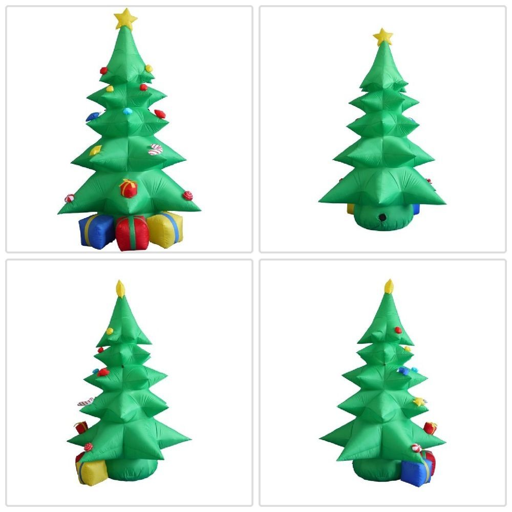 Details about Airblown Inflatable Christmas Tree 8Ft W/ Gift Boxes ...