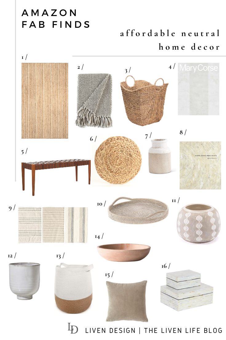 Affordable Neutral Home Decor From Amazon