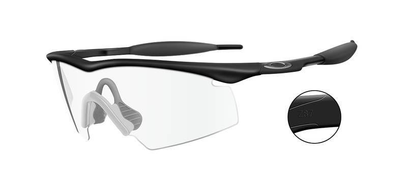 Oakley Industrial M Frame Safety Glasses with Clear Lens | Black ...