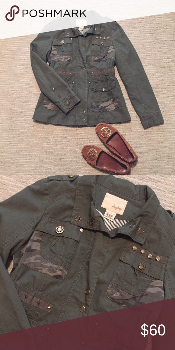 Military Jacket NWOT. Brand New without tags! Purchased at The Buckle. Was too small for me, my loss is your gain! Such nice quality. Daytrip Jackets & Coats Utility Jackets