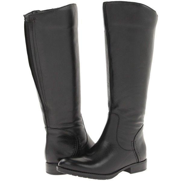 Franco Sarto Trooper 2 Wide Calf Women's Dress Boots, Black ($105) ❤ liked