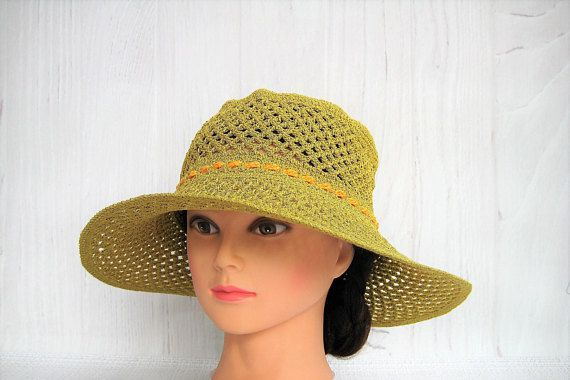Crochet summer hat for womens   Light cotton hat   Lace hand crochet hat    Beach ladies accessory   Cloche cap   Elegant stylish sun hat 8abb8a6d036d