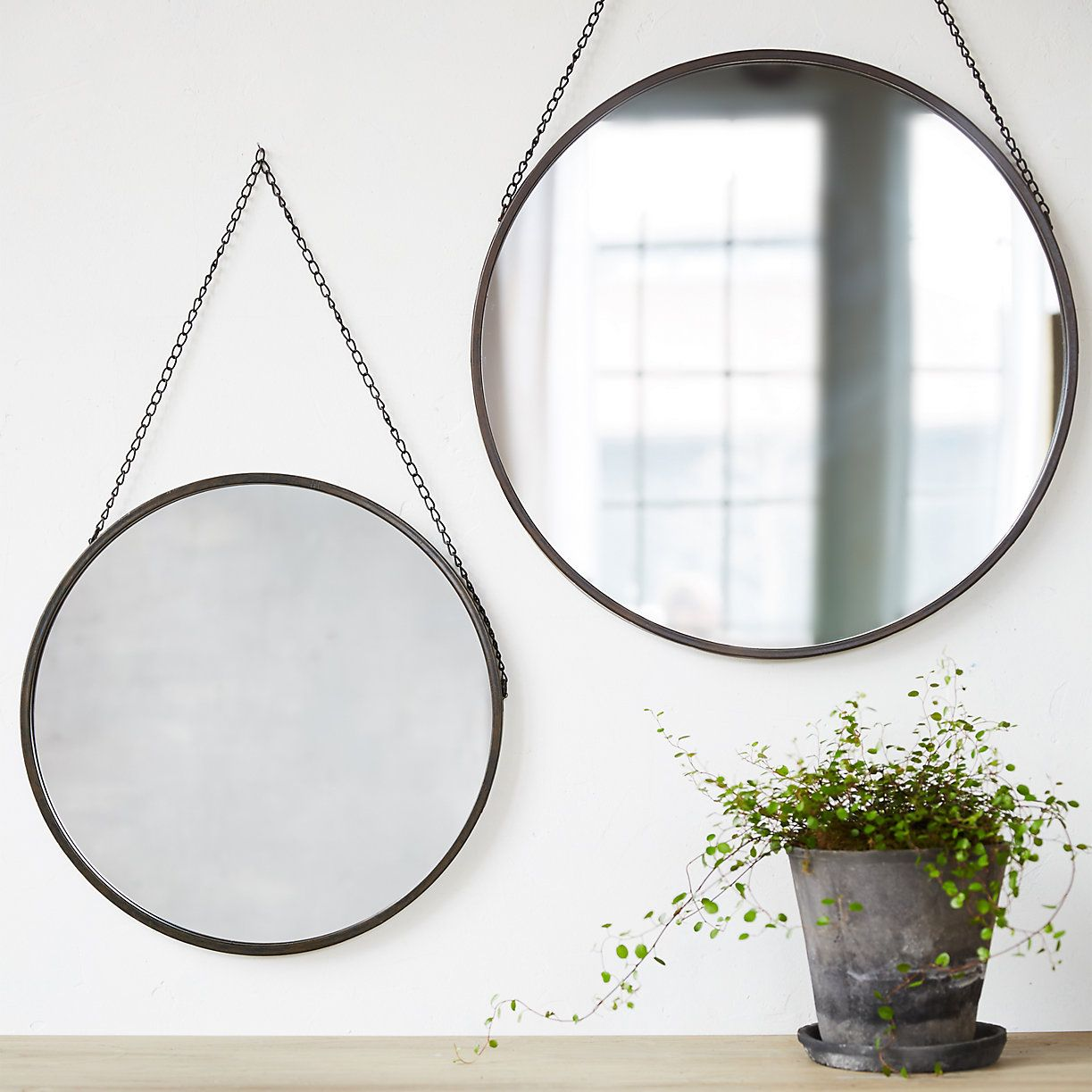This Simple Hanging Circle Mirror Is An Effortless Way To Add A Stylish Touch To Any Room Available In Small Round Hanging Mirror Hanging Mirror Circle Mirror