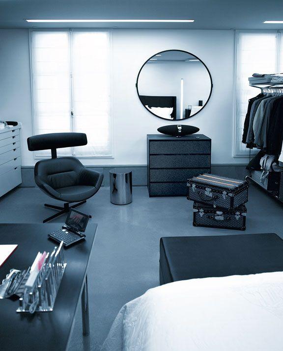 Auckland armchair lappartement futuriste de karl lagerfeld toujours dans la chambre