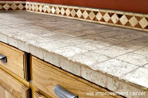 kitchen tile countertop ideas | Tile countertops are another ...