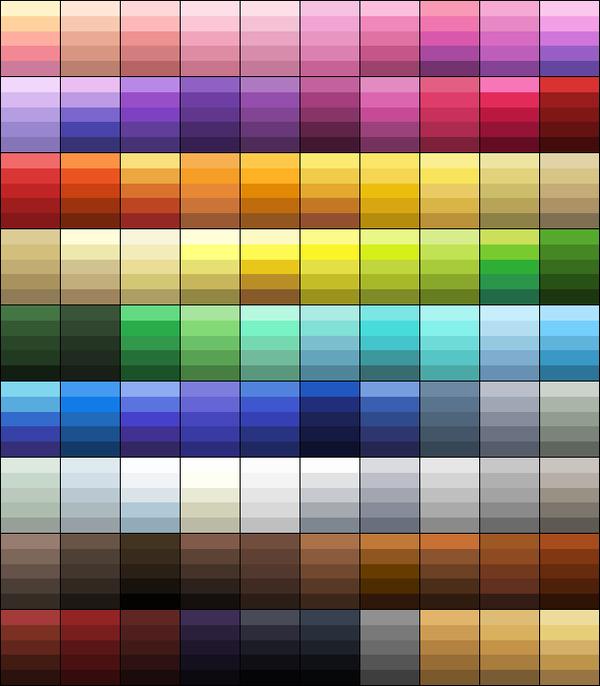 Color Palette Hair Color Shades By Blknblupanther D5n5k59 Png Gyazo Color Palette Challenge Skin Color Palette Color Mixing Chart