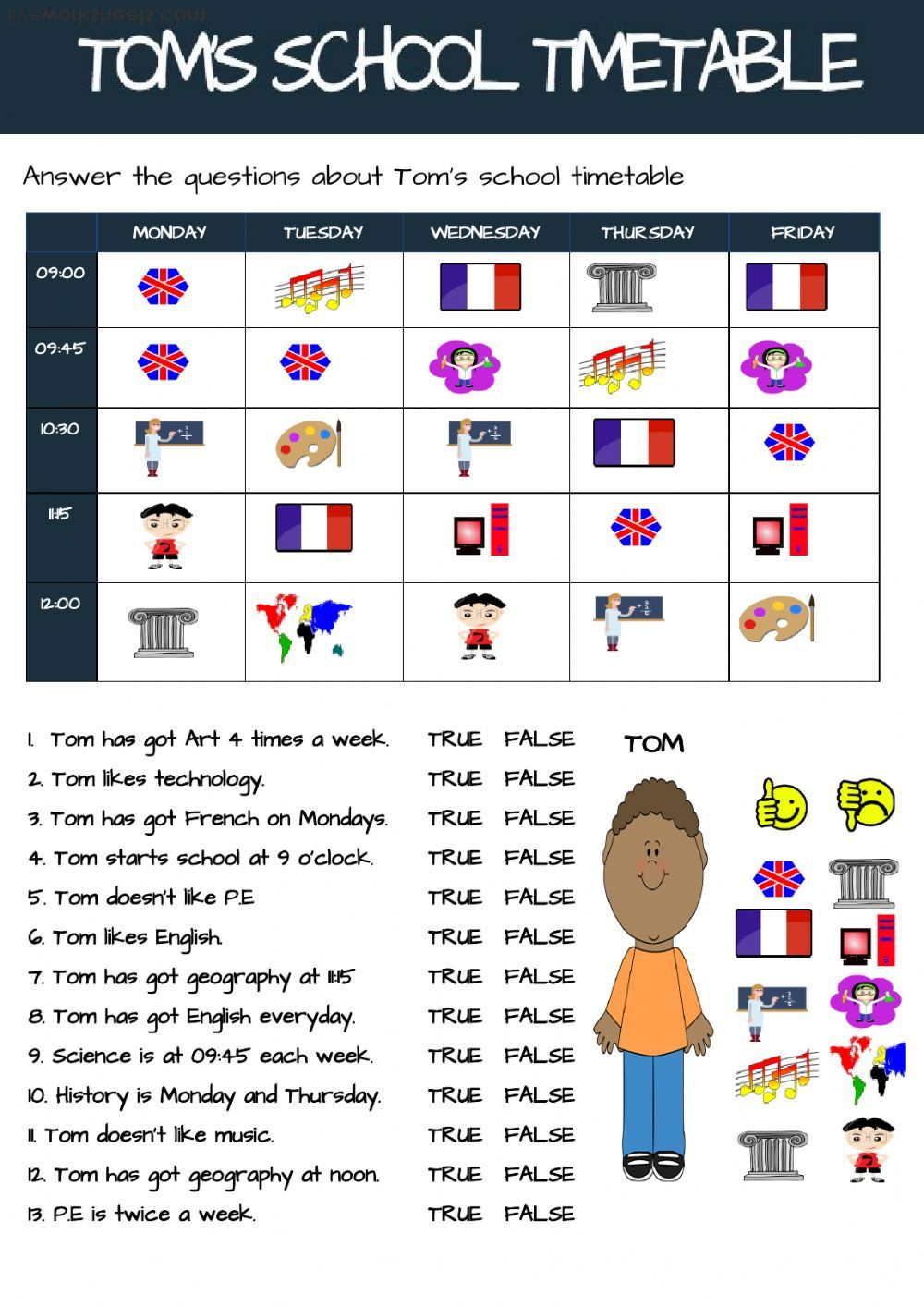 School Subjects Interactive And Downloadable Worksheet You Can Do The Exercises Online Or Downl School Subjects School Timetable Reading Comprehension Lessons [ 1414 x 1000 Pixel ]