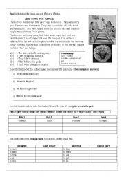 English worksheets: The Aztecs