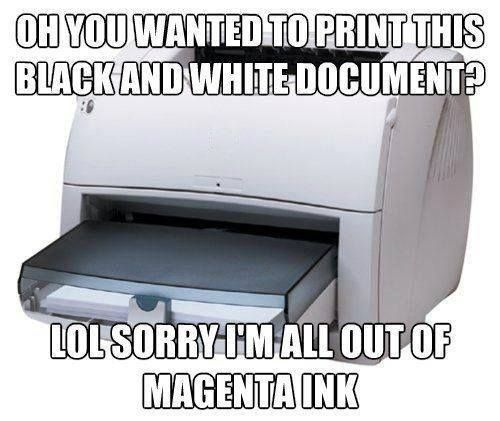 I'm all out of Magenta. Happens all the time!