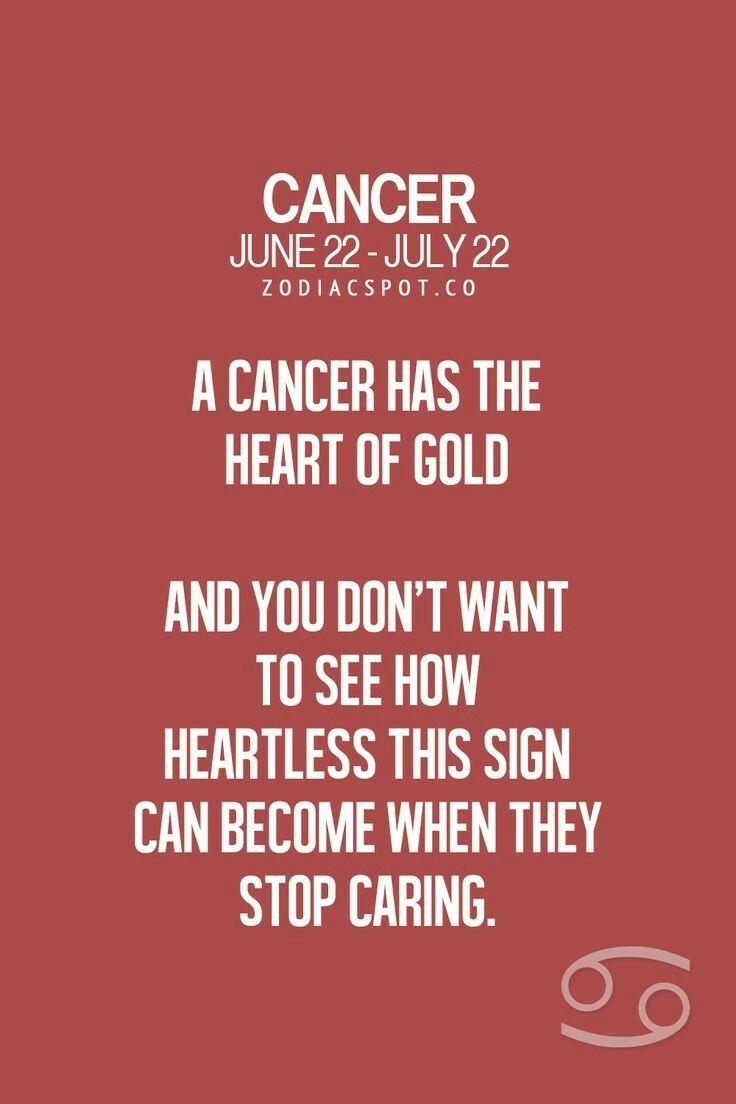 Ya ya You jus watch how heartless   Cancer zodiac