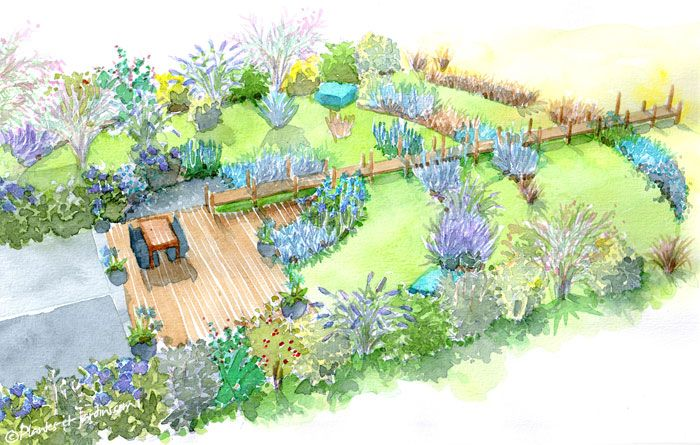 Le jardin bord mer un p 39 tit tour au jardin pinterest - Dessiner un jardin ...