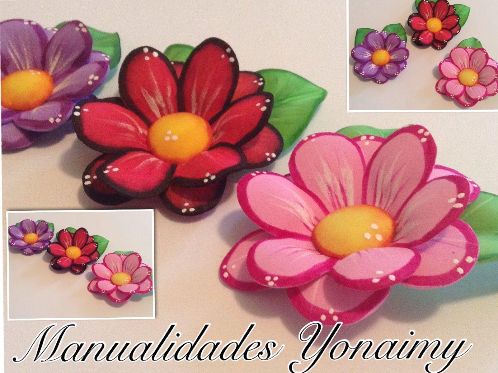 Flores Dobles De Foamy O Goma Eva Con Termoformado Manualidades