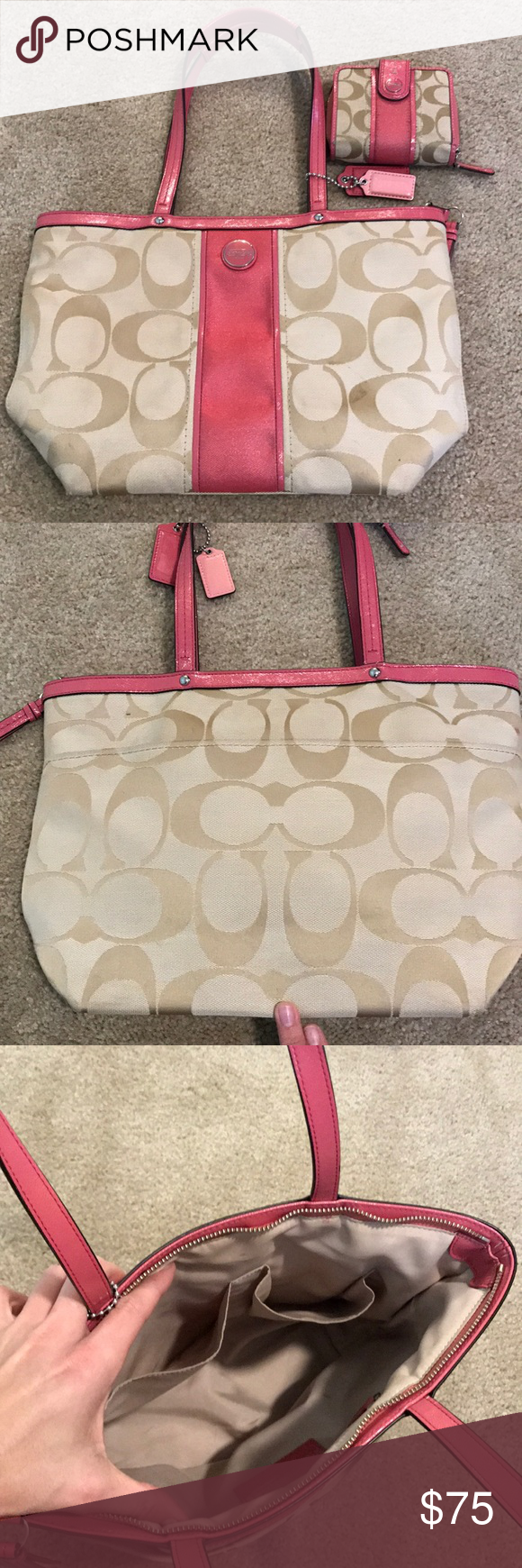 Authentic Coach Purse And Matching Wallet Coach Purses Purses Bags