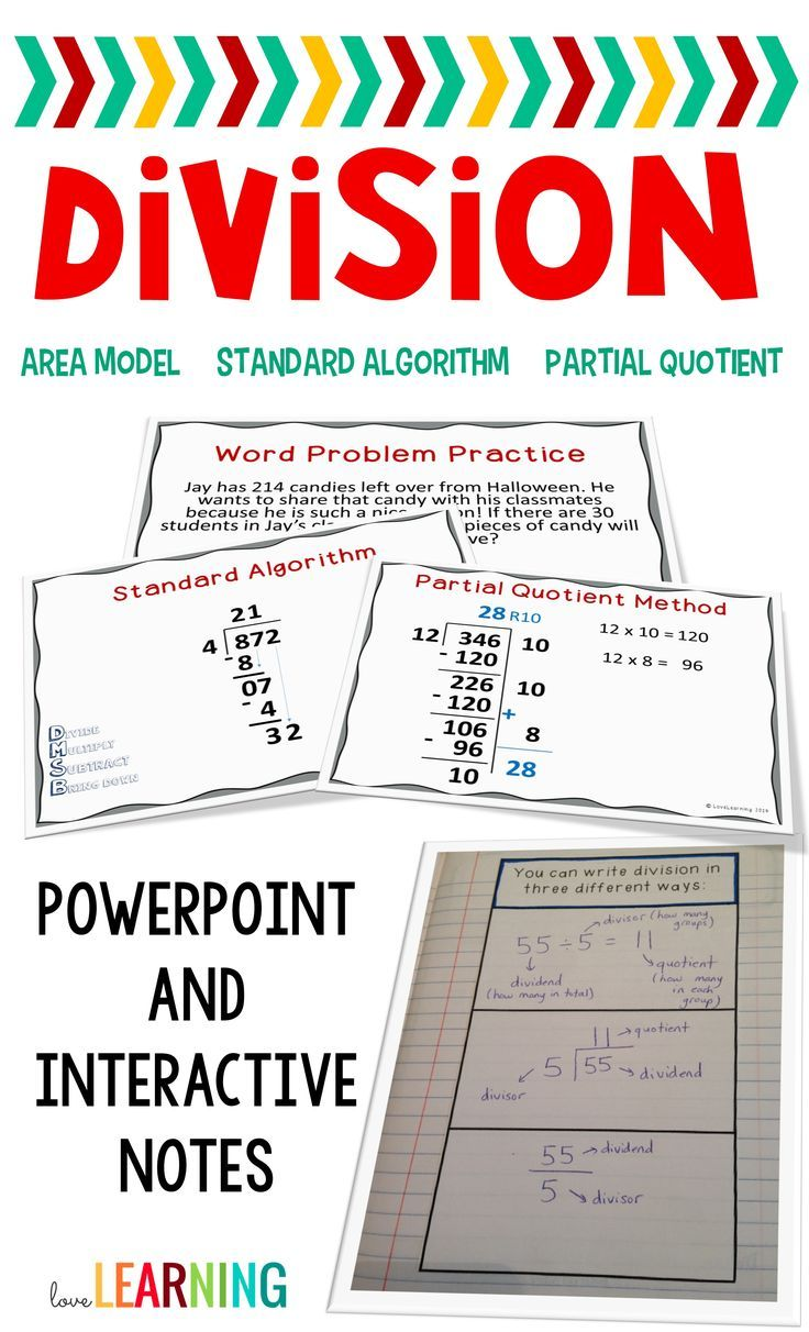 solve division problems using an area model and the partial quotients algorithm