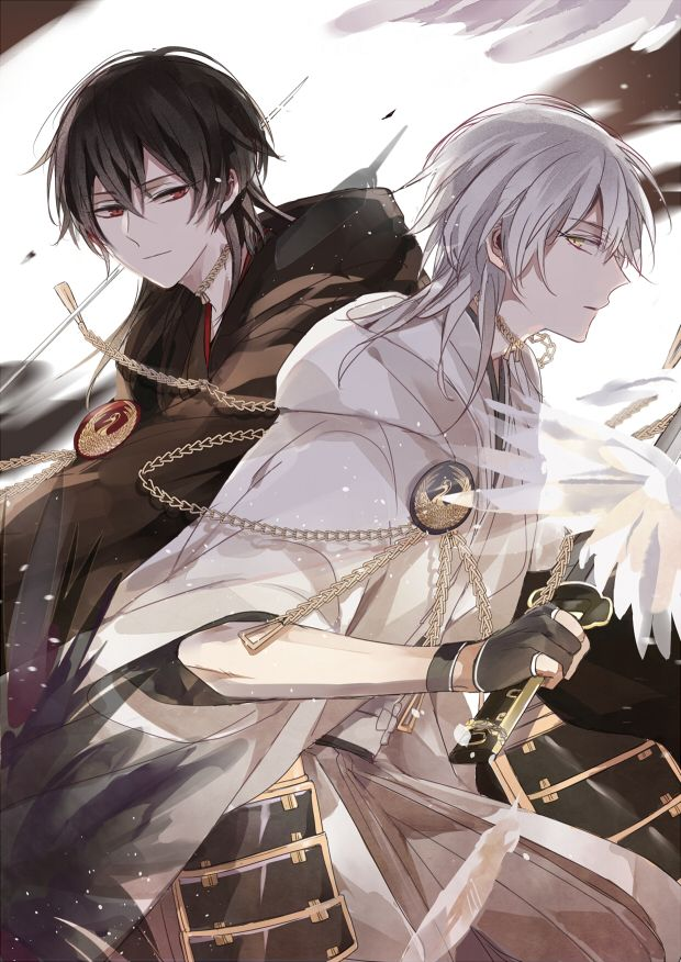 Tsurumaru Kuninaga, White Wings, Black Wings Nuemaru '-' Dua vay thoi :v .....