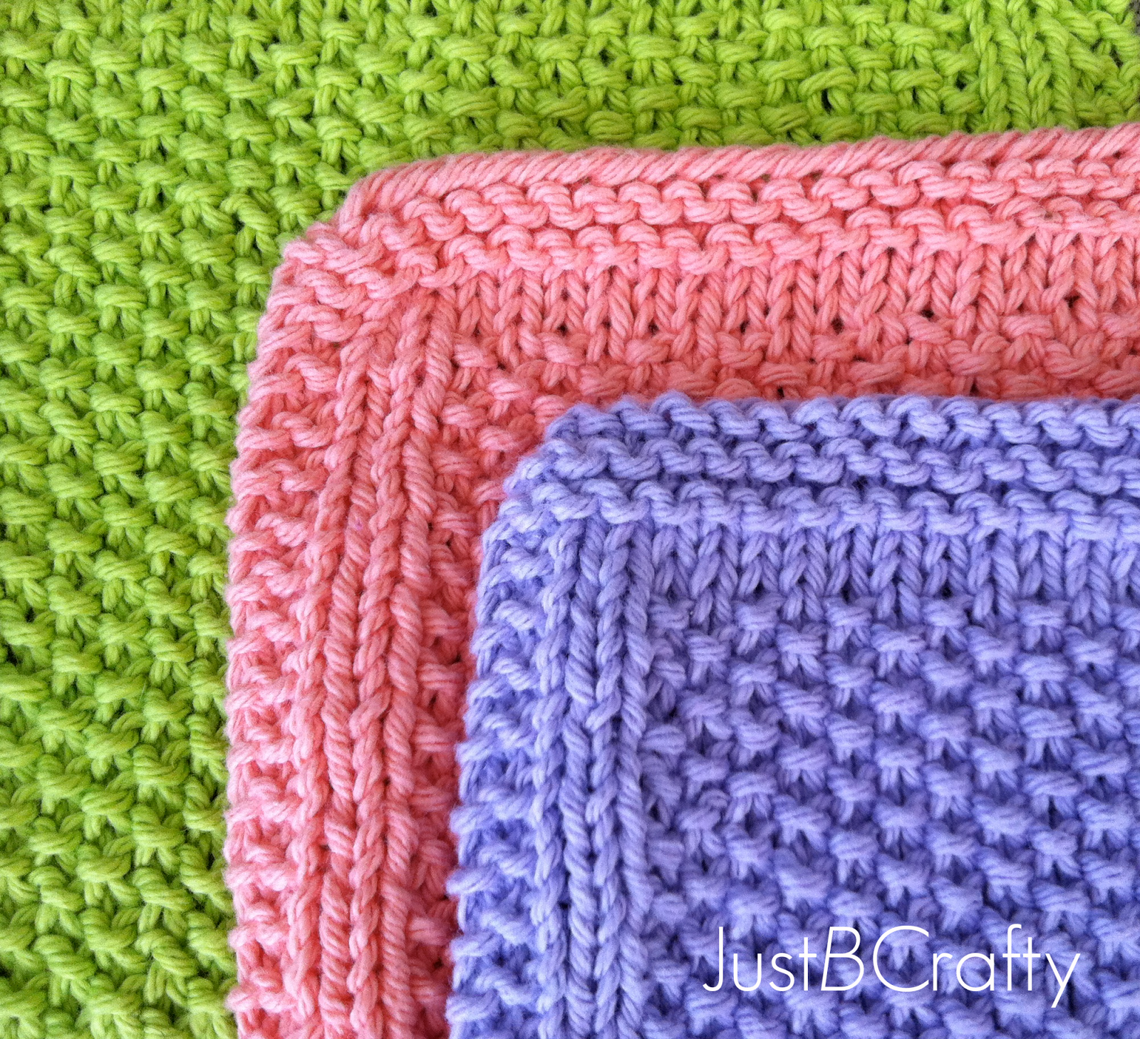 Seed stitch dishcloths seed stitch dishcloth and fish seed stitch dishcloths bankloansurffo Choice Image