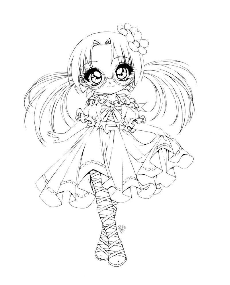 Coloriage fillette coloriages pinterest - Coloriage manga a colorier ...