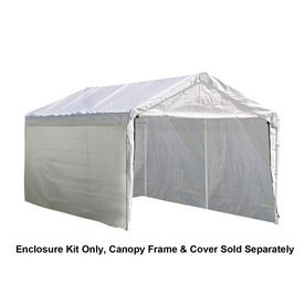 Shelterlogic White Polyethylene Storage Shed Enclosure Kit 25875 Products White Canopy Canopy Frame Canopy