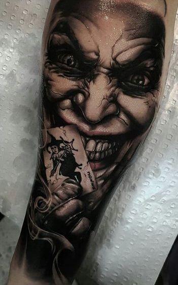 Tattoo Joker Tattoo Tattoos Clown Tattoo