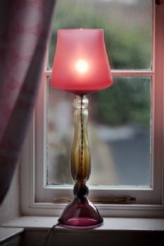 Large Traditional Glass Table Lamp.