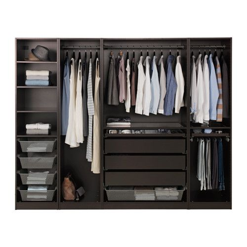 pax wardrobe black brown ankleidezimmer. Black Bedroom Furniture Sets. Home Design Ideas