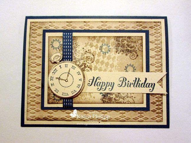 stampin up clockworks cards | ... Ivory, Midnight Muse, Crumb Cake, Early Espresso. Stamp set Clockworks
