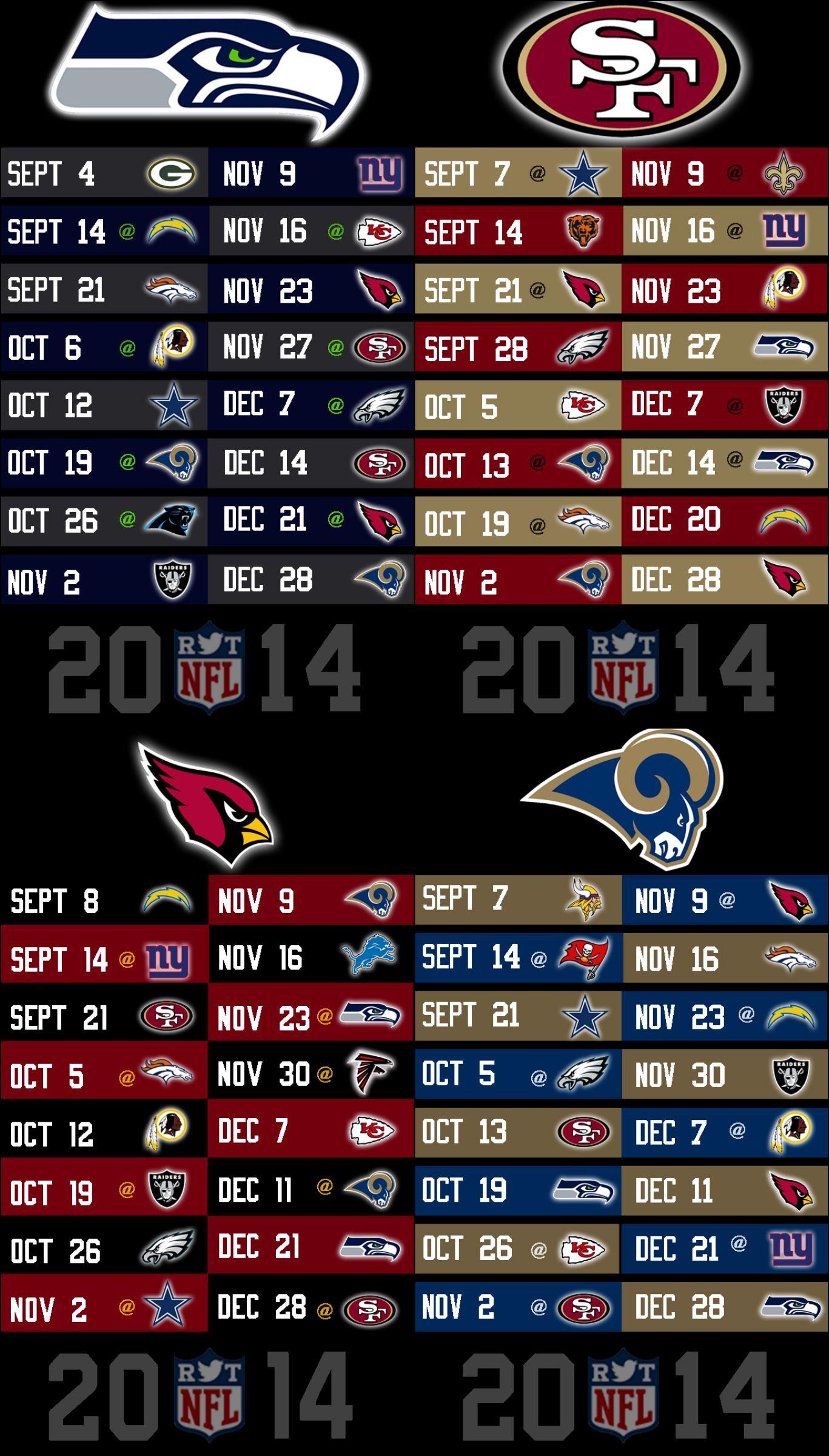 2014 NFL Schedule Wallpapers for iPhone 5 NFLRT Nfl