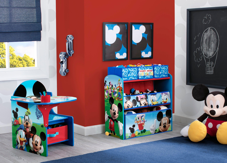 Delta children disney mickey mouse multibin toy organizer