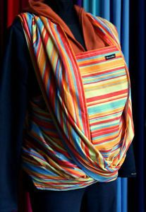 BABY-SLING-WOVEN-100-COTTON-WRAP-CARRIER-BIRTH-3-yrs-BREASTFEEDING