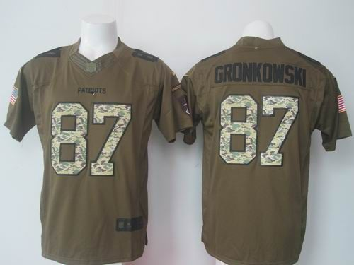 958623ddbb0 Nike New England Patriots 87  Rob Gronkowski green Limited Salute to Service  Jersey   22.5