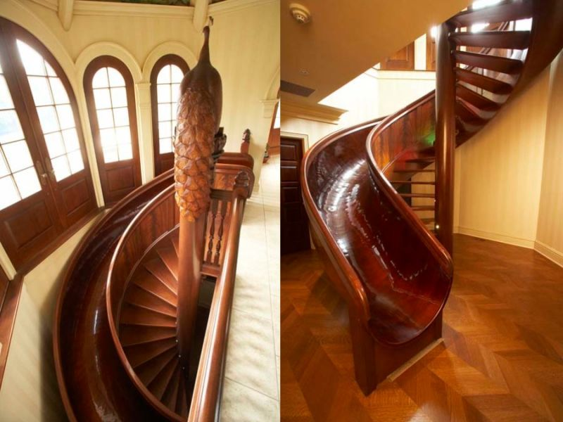 These Insane Houses Have Indoor Slides | Indoor slides, Built ins ...