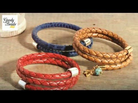 Leather Wrapped Cord : Easy diy leather wrap bracelet youtube how to