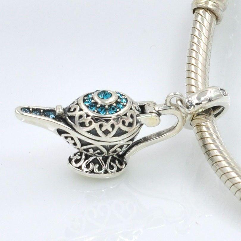 74f1105425c242 Lampada Magica genio della Lampada Aladino 100% argento sterling 925 adatta  misure Pandora charm Pandora