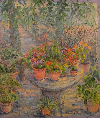 PLANTS ON STONE TABLE, SON MARROIG by Bruno  ZUPAN
