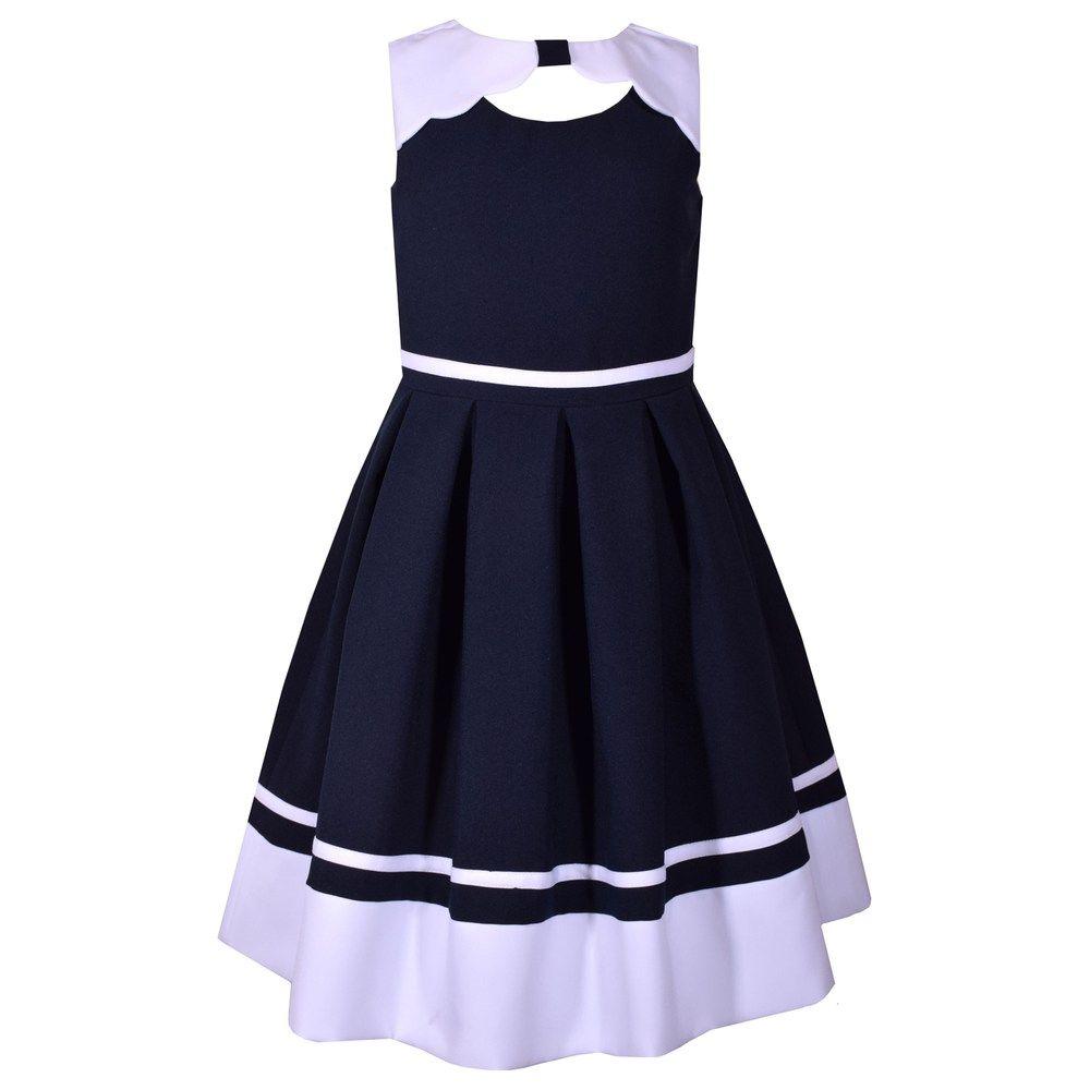 d147f6a401 Girls 7-16 Bonnie Jean Poplin Nautical Dress