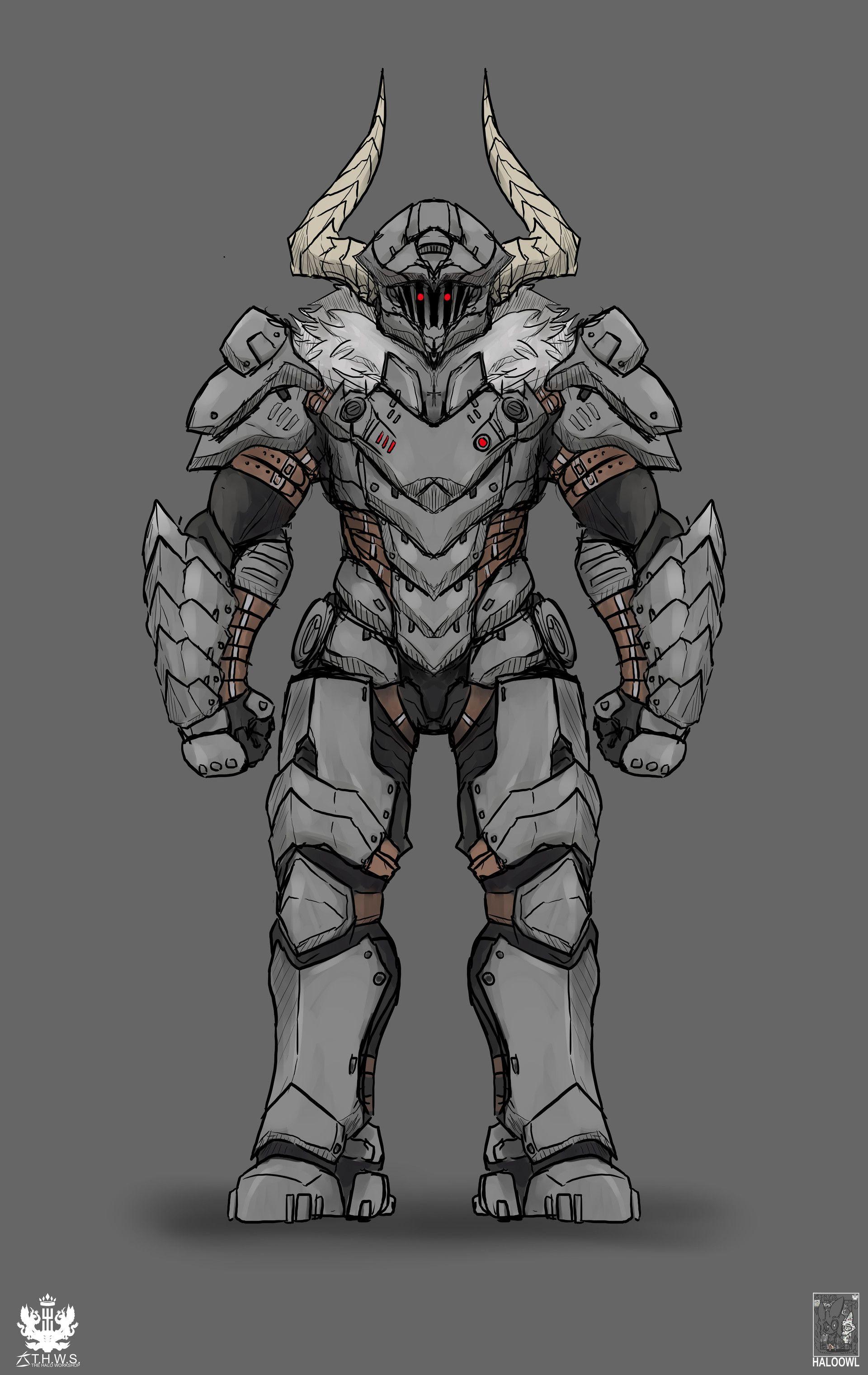 Artstation Doom Goblin Slayer Halo Owl Fantasy Character