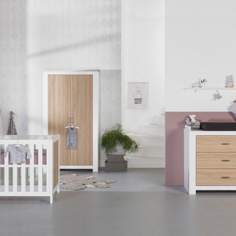 Babykamer Bateau Wit.Basicline Monza Babykamer Wit Eiken Bed 60 X 120 Cm Commode
