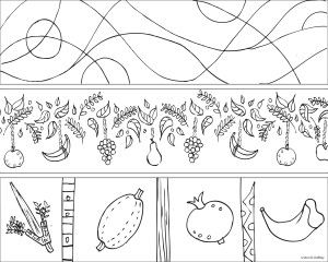 Pin by Ann Koffsky on Jewish Coloring Pages | Shabbat ...