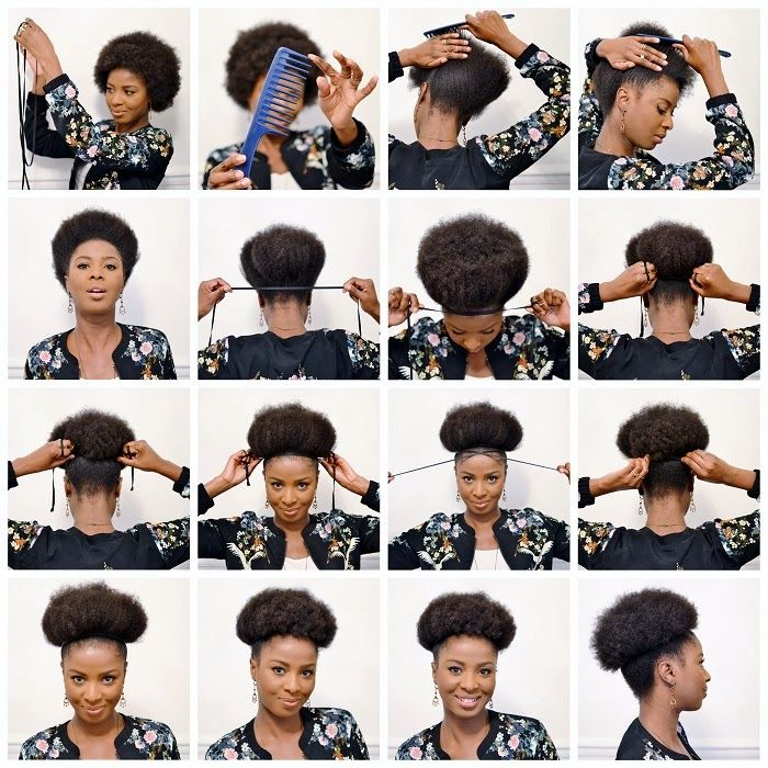 Natural hairstyle tutorial, hairstyle, cheveux naturels, tutorial, revele  toi, afro, puff, nappy, puff tutorial, promod