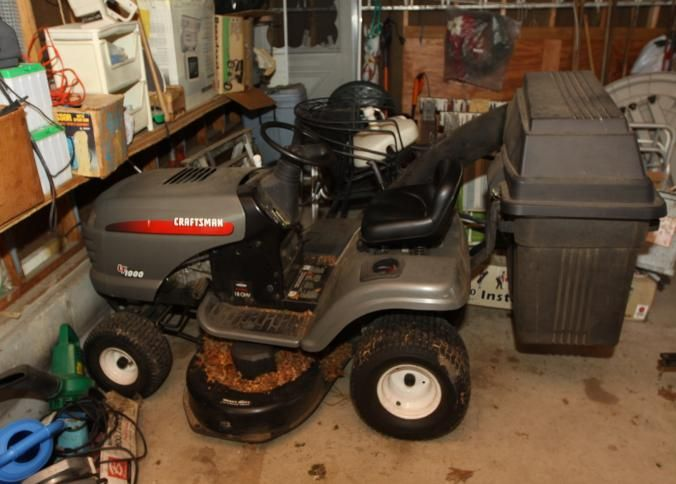 Absolute Auctions Realty Riding Mower Utility Trailer Mower
