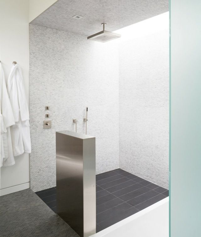Idée de douche à effet pluie en 30 photos magnifiques! - Salle De Bain Moderne Douche Italienne
