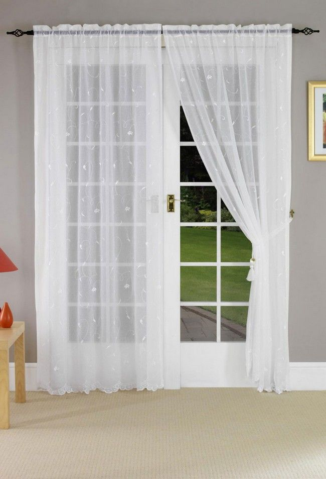 french door curtain ideas