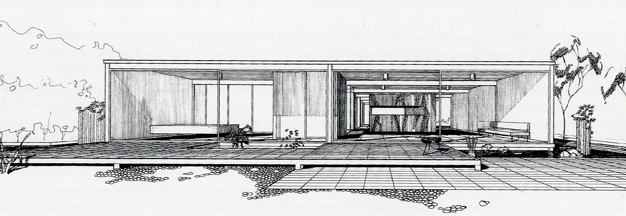Architecture Drawing Houses case study house #21, pierre koenig | architectural sketches