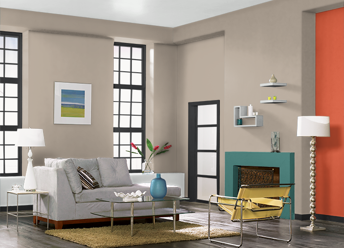 This is the project I created on Behr.com. I used these colors: JET ...