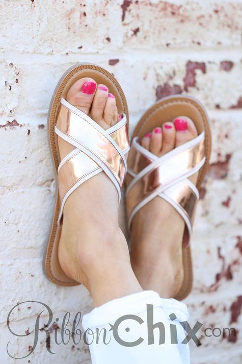 1ad0bd7f821f9 Ribbon Chix TOMS ~ Viv Rose Gold Specchio Sandal