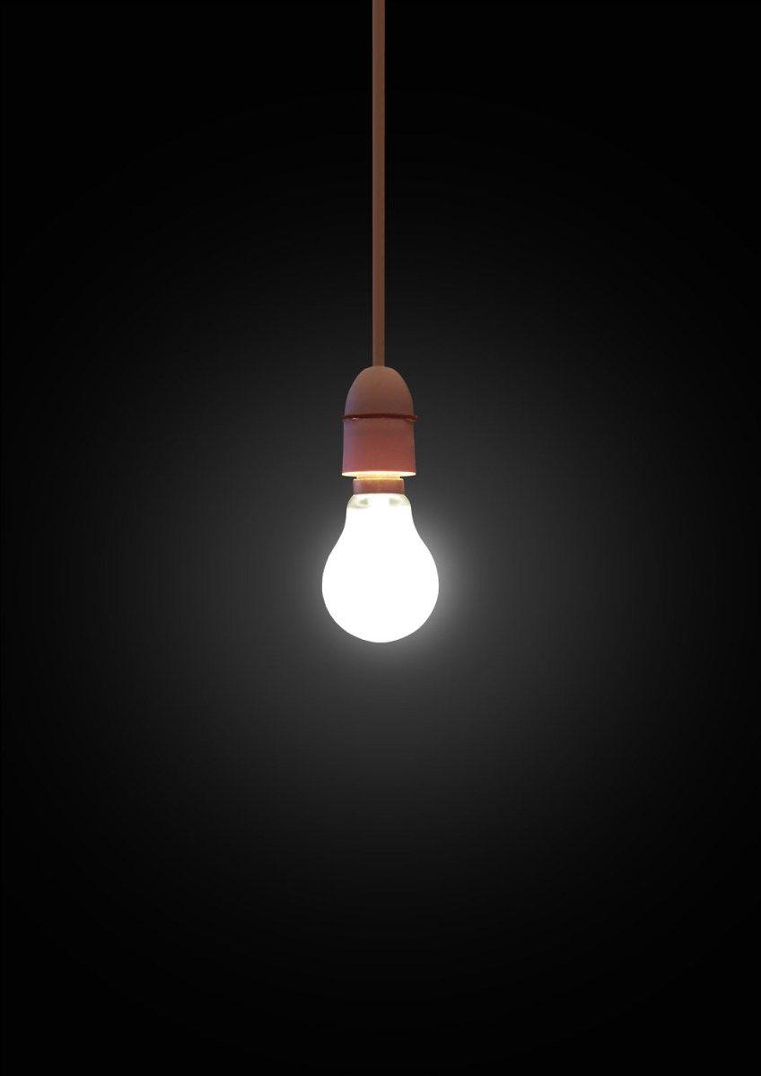 A Little Conservation Light Bulb Art Dark Background Wallpaper Bulb