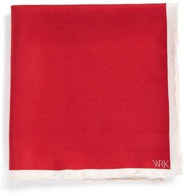 $9, Wrk Silk Pocket Square. Sold by Nordstrom. Click for more info: https://lookastic.com/men/shop_items/183037/redirect