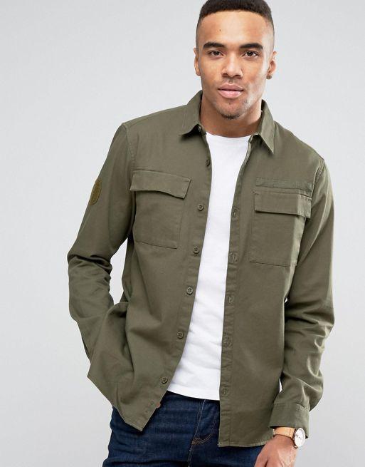 made in the 1990s Man coat brand  PULL /& BEAR in khaki